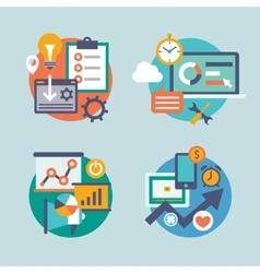 Set flat design for internet marketing vector image vector image