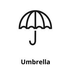 umbrella line icon vector image vector image