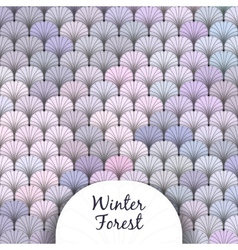 Winter Forest Scaly Texture vector image vector image