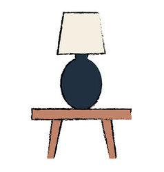 bedroom lamp in table vector image vector image