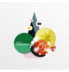 Christmas and New Year sale sticker templates vector image