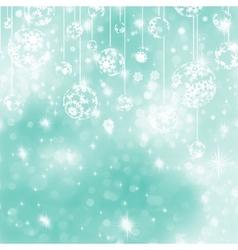 Elegant blue christmas background EPS 8 vector image
