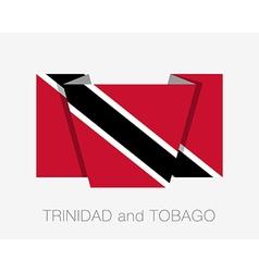 Flag of trinidad and tobago flat icon vector