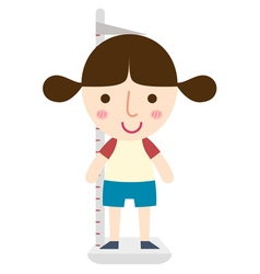 girl height vector image vector image