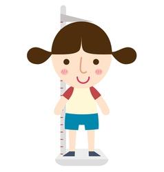 Girl height vector