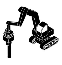 medium drill truck icon simple style vector image
