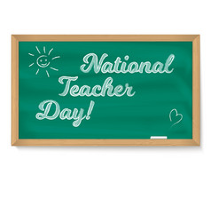national holiday happy teacher day school vector image vector image