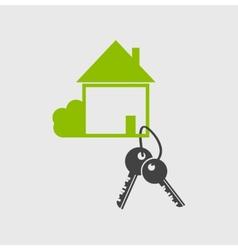 Real estate logo designsymbol vector image