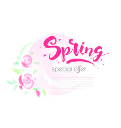 spring sale background with beautiful colorful vector image vector image