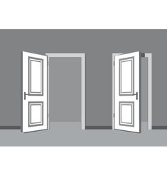 black door vector image