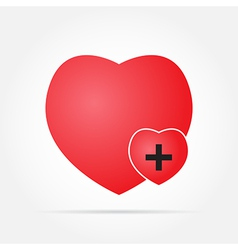 heart in Care vector image vector image