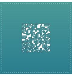 Labyrinth Puzzle rebus icon vector image