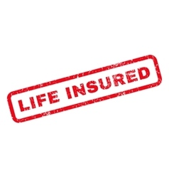 Life Insured Rubber Stamp vector image