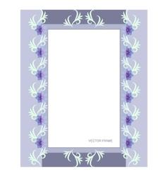 Rectangular flower frame vector image