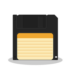 retro floppy diskette isolated on a white vector image vector image