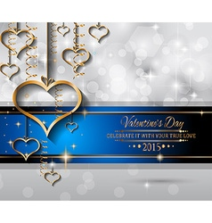 Valentines Day background for dinner invitations vector image vector image