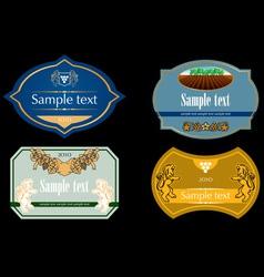 wine labels 02 vector image
