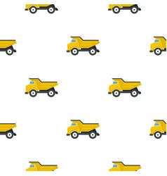 yellow dump truck pattern flat vector image