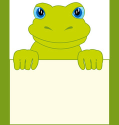 Frog and clean sheet vector