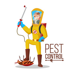 pest control service sanitation cleaner vector image