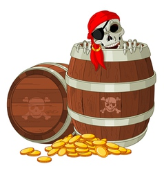 Pirate skeleton vector image vector image