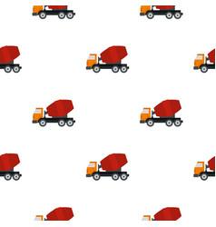 truck concrete mixer pattern flat vector image
