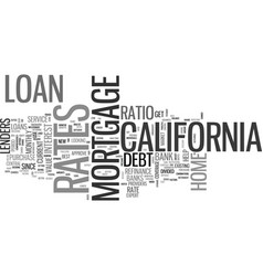 what you should know about california loan rates vector image