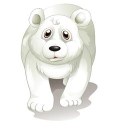 A giant white polar bear vector