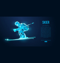 abstract silhouette a skier jumping ski vector image