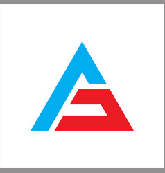 ag initials triangle logo template abstract vector image