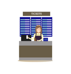 airport ticket agent in flat vector image