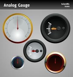 analog gauge icon vector image