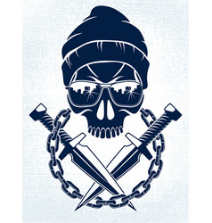Anarchy and chaos aggressive emblem or logo vector