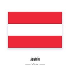 Austria Flag Icon vector image