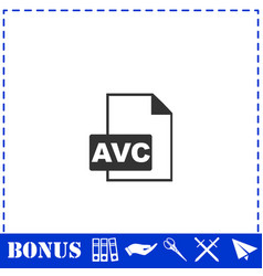 Avc icon flat vector