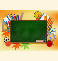 back to school banner background vector image