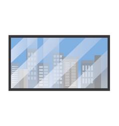 buildings view cartoon vector image