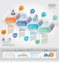 business infographics design template vector image