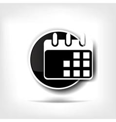 Calendar organizer web icon vector