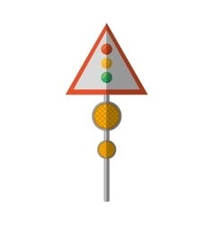 Cartoon sign road light traffic vector
