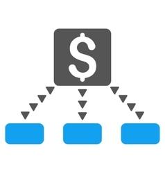 Cashout Scheme Flat Symbol vector image