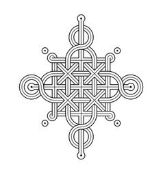 celtic knot - single chain - wand top ring sides vector image