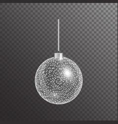 Christmas ball with highlights vector