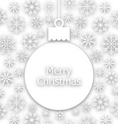 Christmas paper composition unusual greeting card vector image