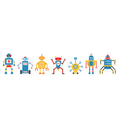 Collection robot characterartificial intelligence vector