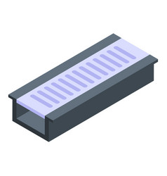 Concrete gutter icon isometric style vector