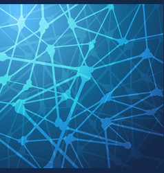 Connected nerve like structured abstract blue vector