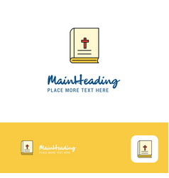 creative holy bible logo design flat color logo vector image