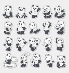 cute and funny panda vector image
