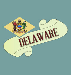 Delaware scroll vector